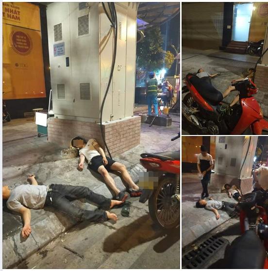 Đang đi đường, thanh niên áo trắng bỗng bỏ xe máy rồi lên vỉa hè nằm... ngủ - Ảnh 3.