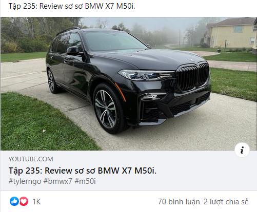 Review sơ sơ BMW X7 dành tặng vợ, Tyler Ngo chia sẻ: 'Lái như siêu xe, tuy cũ nhưng độc nhất vô nhị' - Ảnh 1.