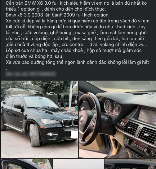 Khoe tên vợ bé nằm trong sách đỏ, chủ xe vẫn hạ giá BMW X6 rẻ ngang Kia Seltos 2021 - Ảnh 2.