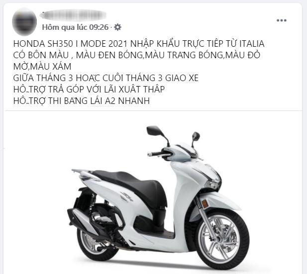 Honda SH 350i 2021 rục rịch đổ bộ Việt Nam, giá bao nhiêu?