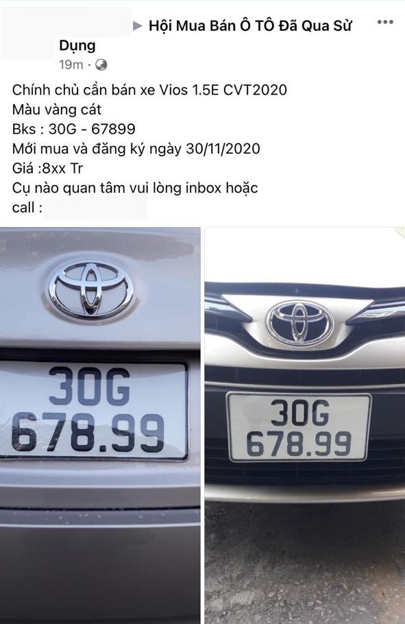 Những chiếc ô tô bình dân đeo biển đẹp được rao bán với giá trên trời tại Việt Nam - Ảnh 1.