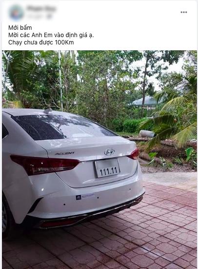 Bốc biển khủng '111.11', chủ nhân Hyundai Accent rao bán xe với giá 1,111 tỷ đồng - Ảnh 2.