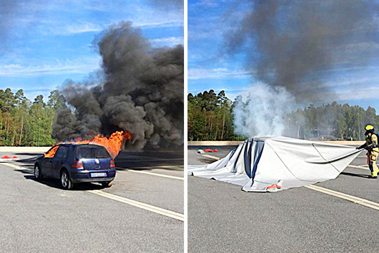 Đây là phương pháp dập cháy ô tô hiệu quả mà không cần nước hay bình cứu hỏa