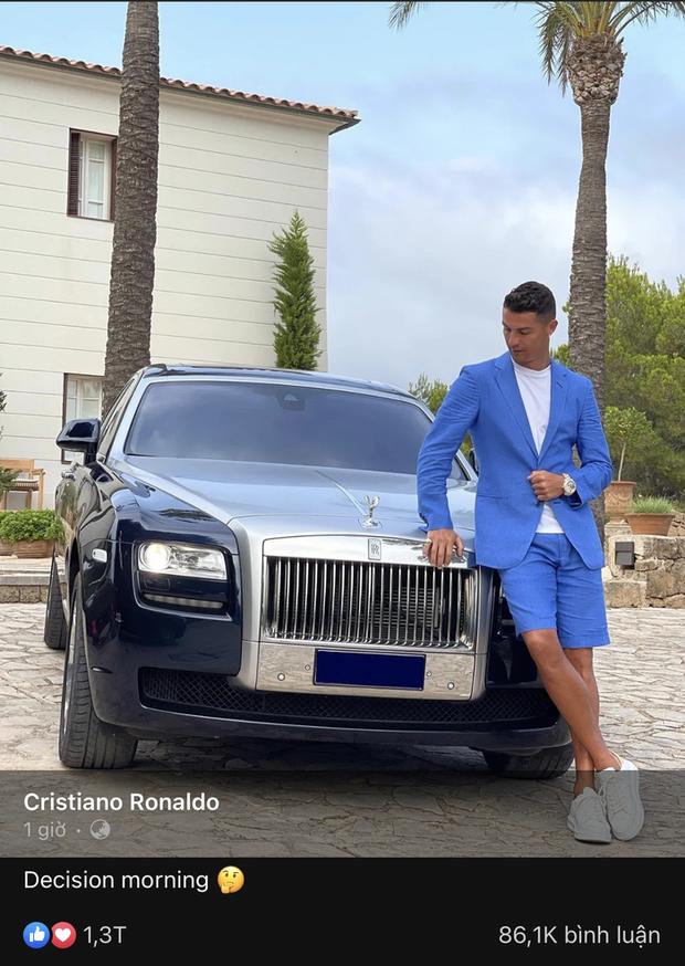 Hơn triệu lượt thả tim bức ảnh Ronaldo chọn xe giữa dàn xế hộp 550 tỷ đồng cho ngày phán quyết - Ảnh 1.