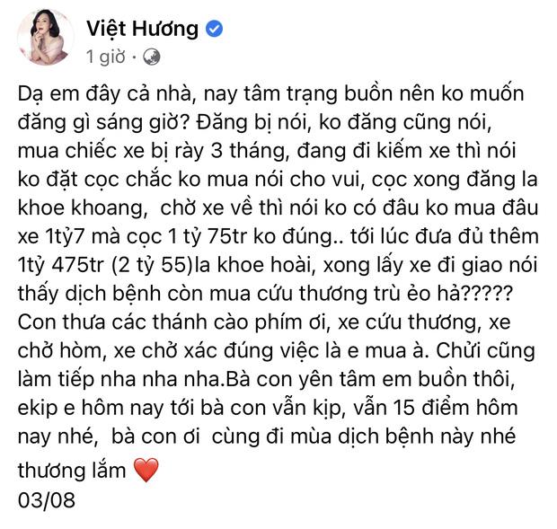 Giao xe cuu thuong 255 ty cho ong Doan Ngoc Hai NS Viet Huong phai len tieng cuc cang vi bi chi trich nang ne