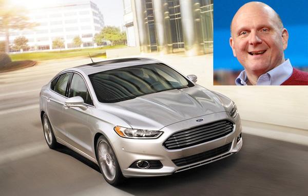 Cựu CEO Microsoft, Steve Ballmer, sử dụng mẫu xe Ford Fusion. Xe Fusion được trang bị công nghệ giọng nói có tên Ford Sync, một công nghệ do chính Microsoft thiết kế.