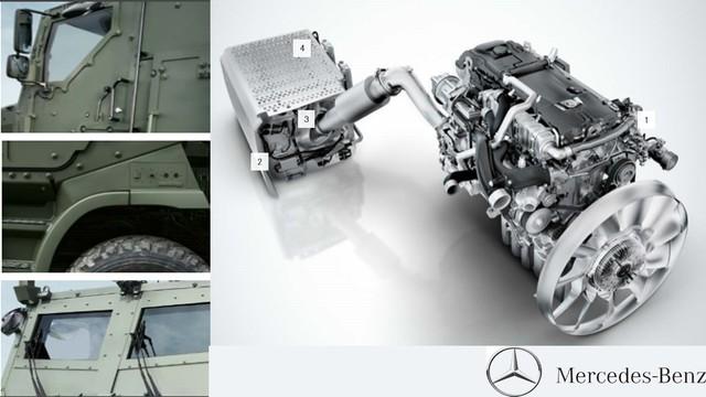 Thông số kỹ thuật cơ bản của Bison: Trọng lượng 38 tấn; Chiều dài x rộng x cao: 10,5 m x 2,8 m x 3,4 m; Động cơ Mercedes-Benz OM 502 LA diesel turbo tăng áp V8 công suất 510 mã lực (375 kW) với hộp số tự động 8 cấp; Bình nhiên liệu 400 lít cho dự trữ hành trình khoảng 800 km.