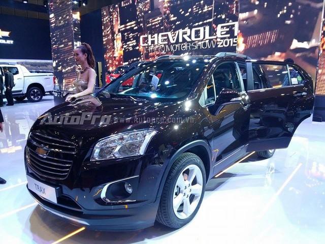 Chevrolet Trax trong triển lãm Ô tô Việt Nam 2015.