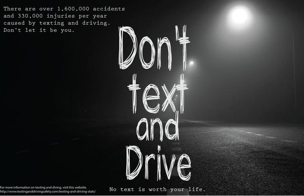 Đừng nhắn tin khi đang lái xe. Không tin nhắn nào đáng giá bằng mạng sống của bạn cả.