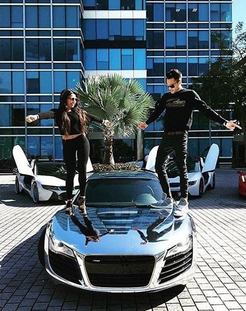 Những đứa con nhà đại gia được bố mẹ tặng siêu xe mạ crôm sáng bóng như Audi R8...