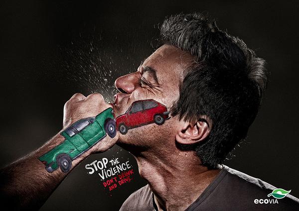 Đừng uống rượu khi lái xe.
