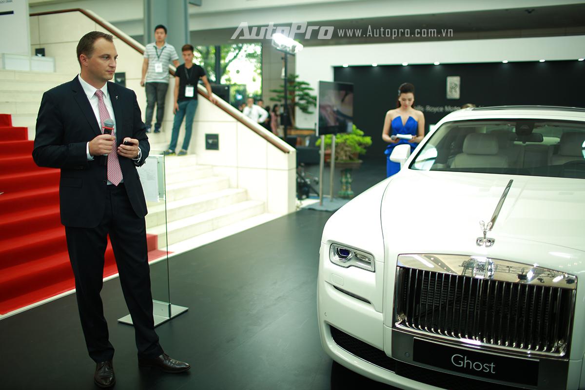 Ông Sven Ritter, Giám đốc kinh doanh khu vực Châu Á Thái Bình Dương của thương hiệu xe siêu sang Rolls-Royce.