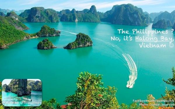 Có phải là Philippines không? Không, là vịnh Hạ Long.
