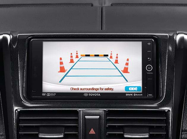 Ngoài ra, màn hình còn kết hợp với hệ thống camera chiếu hậu.