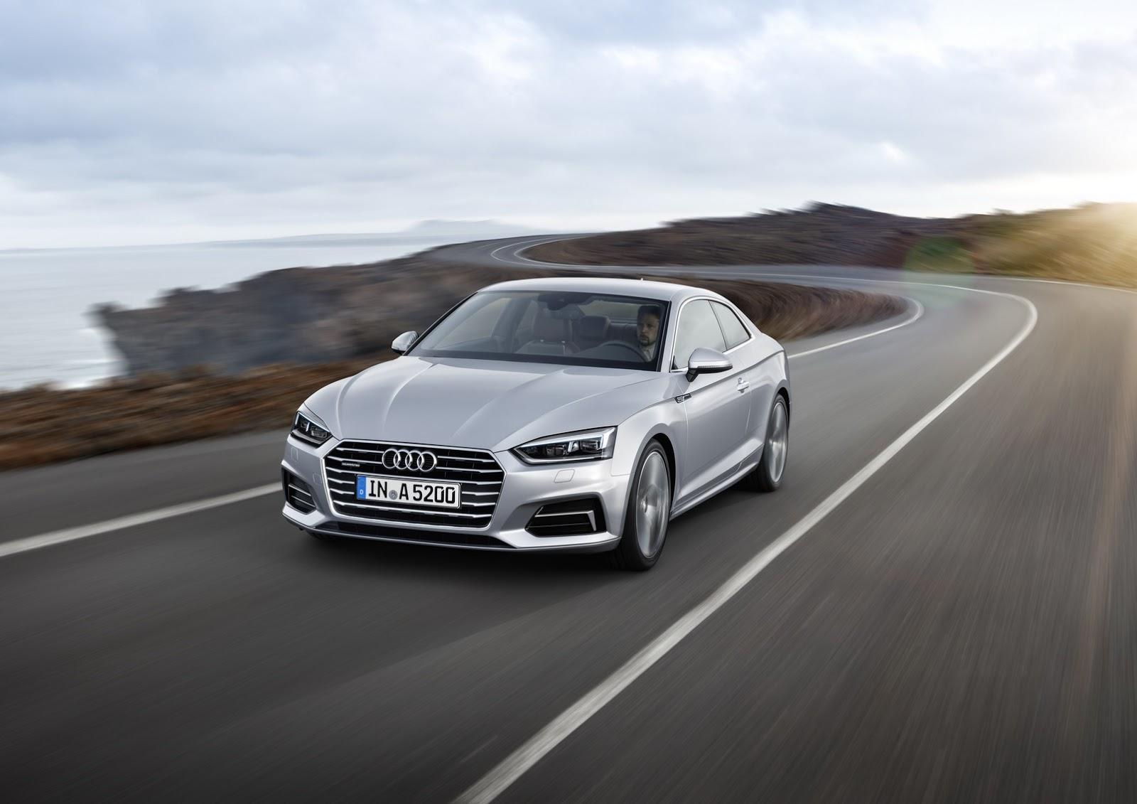 Đúng như kế hoạch từ trước, đầu tháng 6/2016, hãng Audi đã chính thức ra mắt mẫu xe sang A5 thế hệ mới, trong đó bao gồm cả S5 Coupe. Về thiết kế, Audi A5 2017 trông có vẻ không thay đổi quá nhiều về thiết kế. Tuy nhiên, theo hãng Audi, A5 2017 thực sự là mẫu xe hoàn toàn mới.