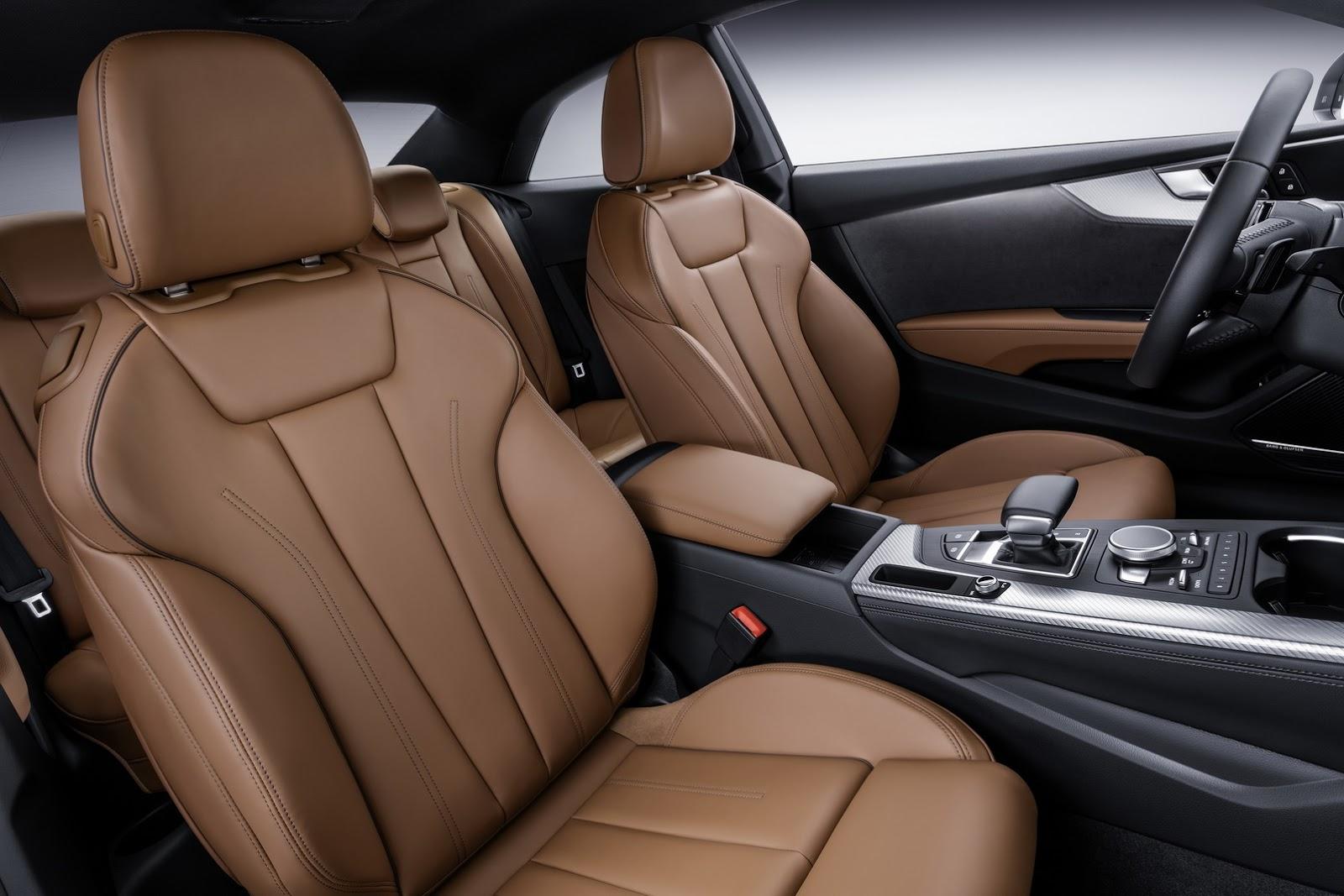 Để đảm bảo an toàn, Audi A5 2017 có những hệ thống chủ động mới nhất như kiểm soát hành trình thích ứng Stop&Go, hỗ trợ khi gặp tắc đường, cảnh báo giao thông phía sau, cảnh báo tránh va chạm và hỗ trợ quay đầu.