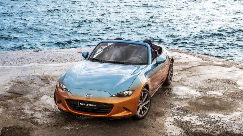 Bên dưới nắp capô của chiếc Mazda MX-5 Levanto có một không hai là khối động cơ xăng SkyActiv-G, dung tích 1,5 lít, sản sinh công suất tối đa 131 mã lực và mô-men xoắn cực đại 150 Nm. Sức mạnh được truyền tới cầu sau thông qua hộp số sàn SkyActiv-MT 6 cấp.