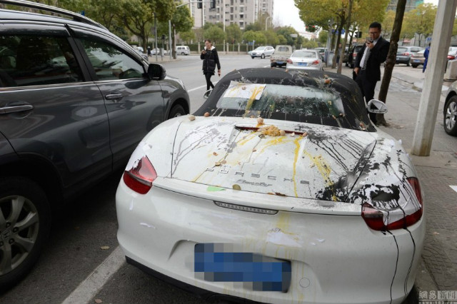 Chiếc Porsche Boxster Spyder chịu tội thay chủ.