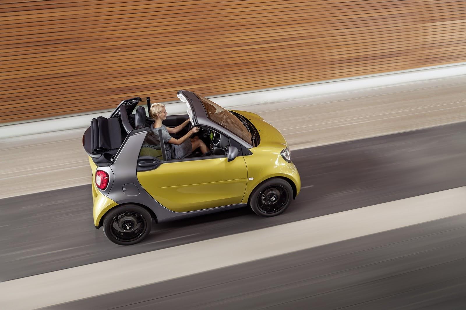Nếu chọn hộp số tự động ly hợp kép 6 cấp cho Smart ForTwo Cabriolet Passion, khách hàng Mỹ sẽ mất số tiền 19.890 USD, tương đương 446 triệu Đồng. Cả hai giá bán này đều chưa bao gồm 750 USD chi phí vận chuyển và giao xe.