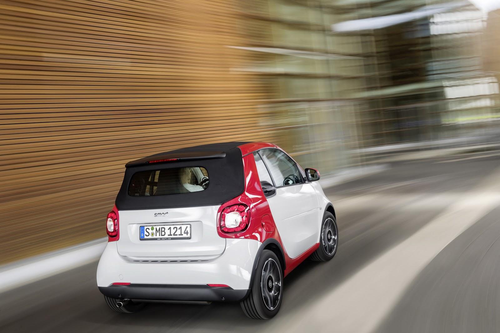 Bỏ ra số tiền trên, khách hàng Mỹ có thể mua Smart ForTwo Cabriolet bản tiêu chuẩn có tên Passion. Bản trang bị này được trang bị hộp số sàn 5 cấp.