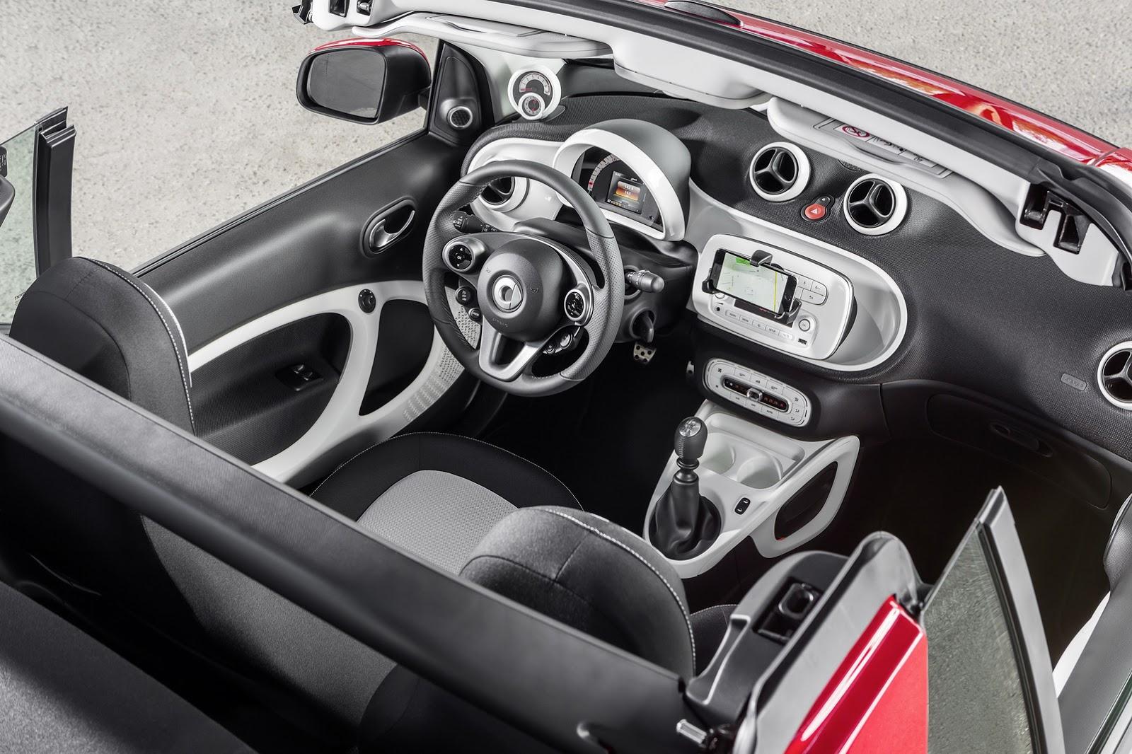 Lần đầu tiên trình làng trong triển lãm Frankfurt 2015, Smart ForTwo Cabriolet được trang bị động cơ 3 xy-lanh, dung tích 1.0 lít với công suất tối đa 70 mã lực.