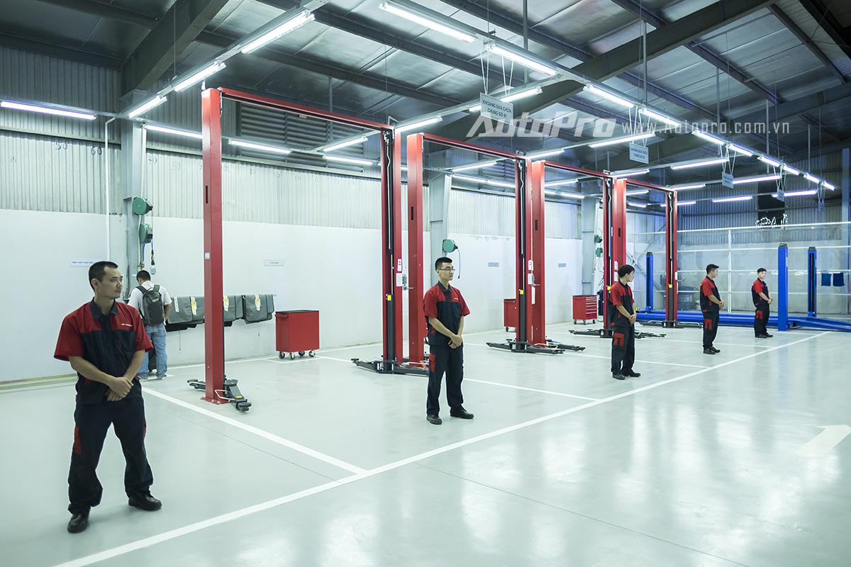 Xưởng dịch vụ đạt tiêu chuẩn quốc tế của đại lý 3S Chevrolet Hà Thành.