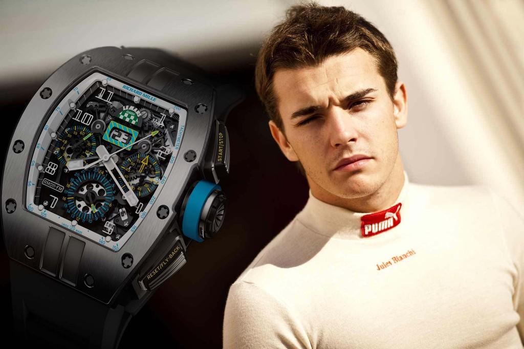Jules Bianchi vừa là một tay đua trẻ đầy tiềm năng vừa là một đại sứ của hãng đồng hồ danh tiếng Richard Mille. Chính vì thế, ông Richard Mille đã phải thốt lên rằng: Sự ra đi của Jules Bianchi giống như tôi mất đi một người bạn.