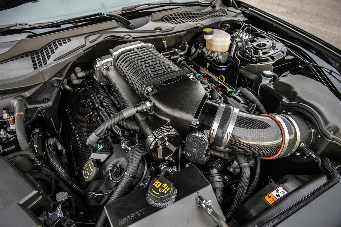 Dựa trên động cơ V8 dung tích 5.0L, hãng Hennessy bổ sung hệ thống siêu nạp dung tích 2.9L. Bên cạnh đó là nâng cấp bộ xả thải, nạp nhiên liệu để giúp chiếc xe Ford Mustang HPE800 có thể dcông suất đạt 804 mã lực, mô-men xoắn cực đại 878 Nm tại 4.400 vòng/phút. Khả năng tăng tốc từ 0-100 km/h trong 3,1 giây trước khi đạt vận tốc tối đa 334 km/h.