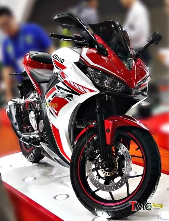 Nhìn thoáng qua, Xgjao XGJ350 giống hệt Yamaha YZF-R3.