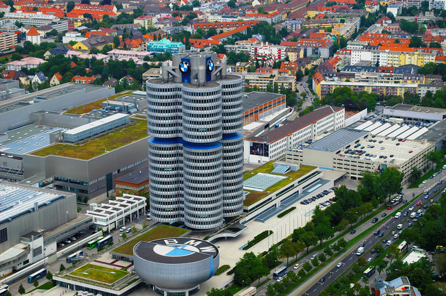 Hình ảnh trụ sở của BMW ngày nay.