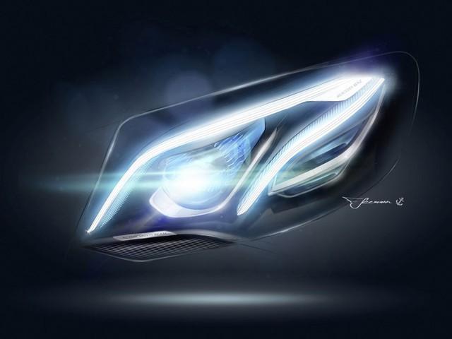"""Những điểm nhấn về công nghệ khác của Mercedes-Benz E-Class 2017 bao gồm đèn viền LED tiết kiệm năng lượng với 64 màu khác nhau. Thêm nữa là hệ thống đèn pha Multibeam LED và dèn hậu LED với hiệu ứng """"bụi sao"""", gợi liên tưởng đến dải ngân hà hoặc chùm sáng từ động cơ máy bay."""