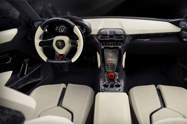 Nội thất của Lamborghini Urus Concept.
