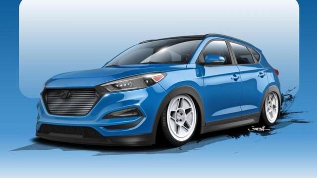 Chiếc Tucson 700 mã lực mà Hyundai công bố hình ảnh trước đó.