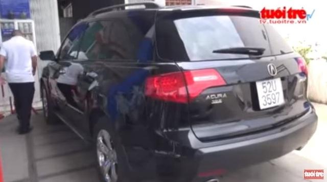 Chiếc Acura MDX 2010 trong sự việc. Ảnh cắt từ clip