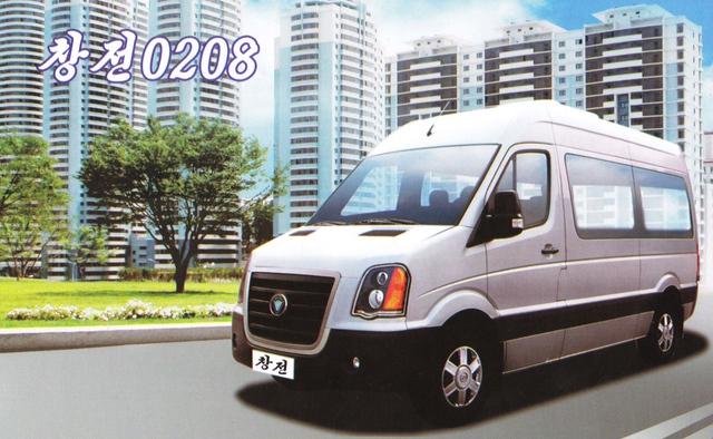 Mẫu xe Pyeonghwa này lại gợi liên tưởng đến Ford Transit.