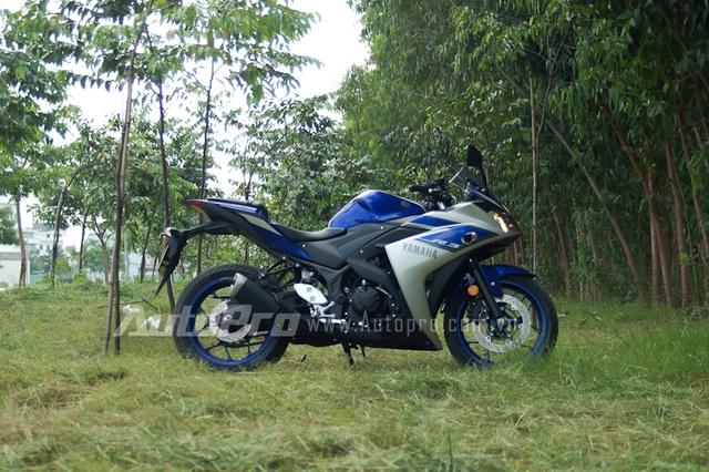 R3 được thừa hưởng rất nhiều thiết kế từ hai mẫu xe R6 và R1 đỉnh cao của Yamaha.