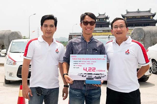 Ngoài ra, Mitsubishi Attrage còn tiết kiệm hơn khi chỉ tiêu thụ 4,22 lít/100 km ở chặng 2 từ Hải Phòng đi Thanh Hóa.