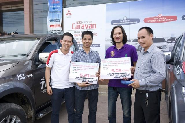 Ở chặng 3 từ Thanh Hóa đi Vinh, Triton lập kỷ lục 5,05 lít/100 km.
