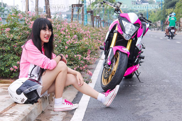 '' Chân dung nữ biker 20 tuổi. ''