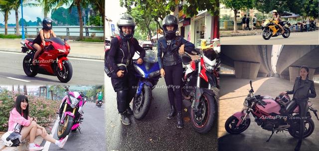 '' 6 nữ biker 9X khiến nhiều người khâm phục tài cầm lái những chiếc xe phân khối lớn. ''