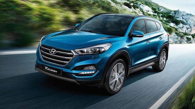 Hyundai Tucson nguyên bản khi chưa được độ lại.