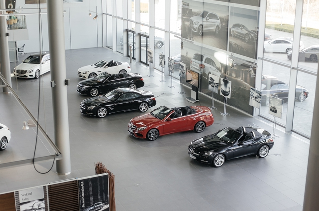 Khu trưng bày những mẫu xe đời mới của hãng.