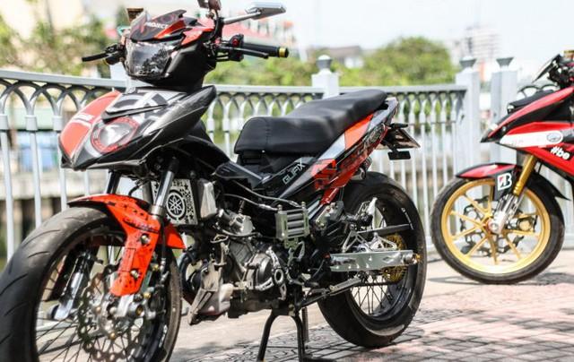 Xe máy Exciter độ tan nát được xem như phiên bản phá cách tại Sài Gòn - Ảnh minh họa: 2banh forum
