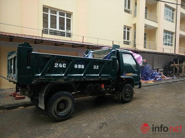 Xe tải phải đốt bình dầu mới hoạt động được.