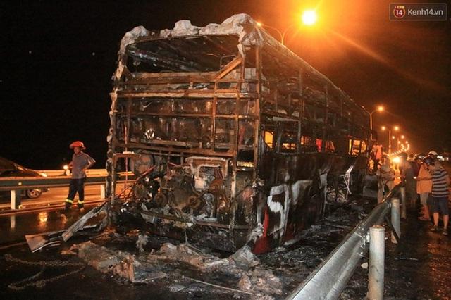 Chiếc xe bị hư hỏng hoàn toàn sau vụ cháy.
