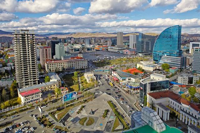 Trung tâm thủ đô Ulan Bataar của Mông Cổ. Ảnh: Wikipedia