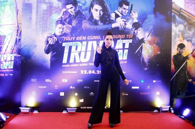 Cựu người mẫu Thuý Hằng cũng xuất hiện trong buổi ra mắt phim.