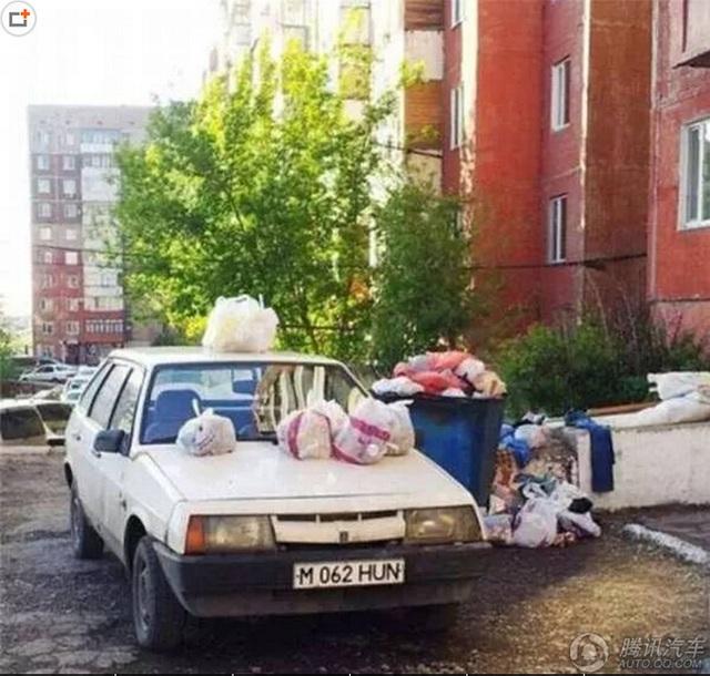 Tự nhiên xe riêng lại biến thành... xe rác.