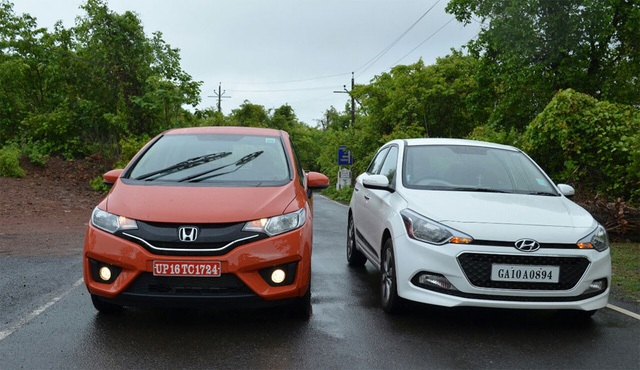 Hond Jazz (trái) và Hyundai Elite i20