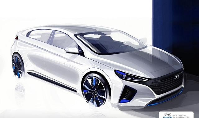 Hình ảnh phác họa chính thức của Hyundai IONIQ.